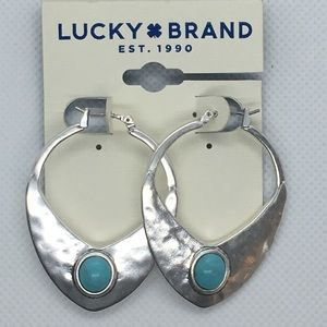 Lucky Brand Turquoise/Mother of Pearl Earrings